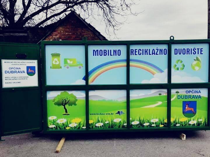 Sukladno uredbi i zakonu o gospodarenju komunalnim otpadom u Dubravu je stiglo mobilno reciklažno dvorište. Otpad će se prikupljati i sortirati prema rasporedu koji će u općininaknadno objaviti.