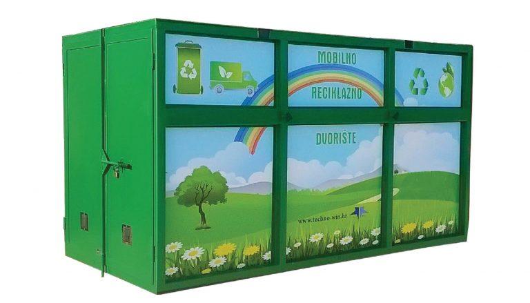 Techno Win, Mobilna jedinica reciklažnog dvorišta (MRD) tip TW N1 je zatvorena i zaštićena od oborinskih padalina, sunca i vjetra. Prijevoz MRD-a moguć je kamionom koji je opremljen sa kranom, komunalnim vozilom-autopodizačem ili kombinacijom drugih tipova vozila i strojeva ( viličar + transportni kamion i sl.)