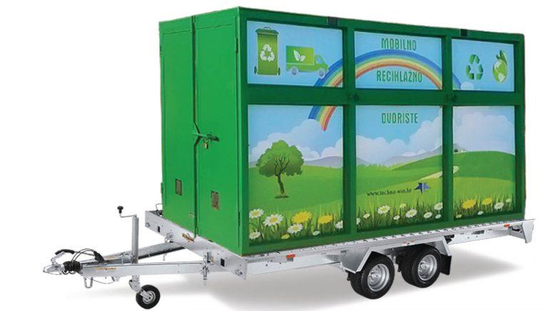Mobilno reciklažno dvorište NA PRIKOLICI proizvod je tvrtke Techno Win d.o.o. Trenutno je jedino na tržištu koje jedinicama lokalne samouprave nudi najbolje rješenje transporta iz naselja u naselje kako je zadano Uredbom o gospodarenju otpadom.