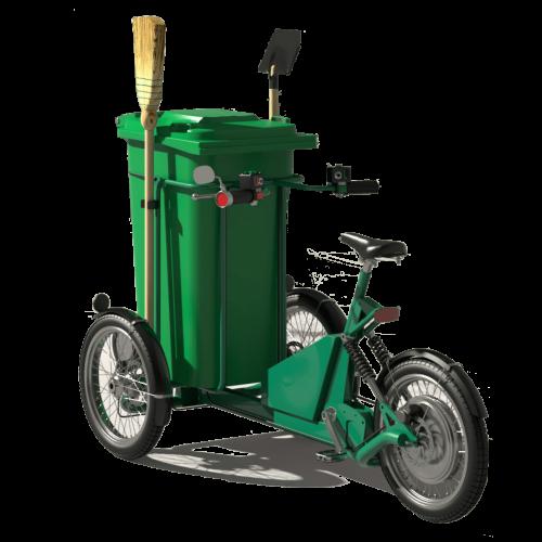 Nudimo Vam više verzija malog ELEKTRO TRICIKLA za sakupljanje otpada sa mogućnosti stavljanja spremnika od 120 i 240 litara. Pogon na elektro motor koji operateru omogućuje laku pokretljivost.